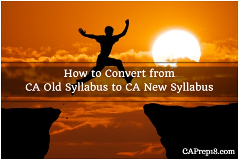 How to switch from Old CA Course to Revised CA Course