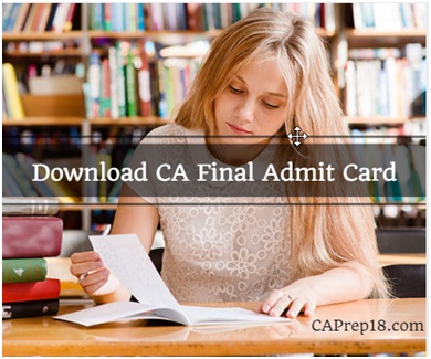 Download CA Final Admit Card